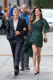Amal and George Clooney - Arrives at Jimmy Kimmel Live! in Los Angeles
