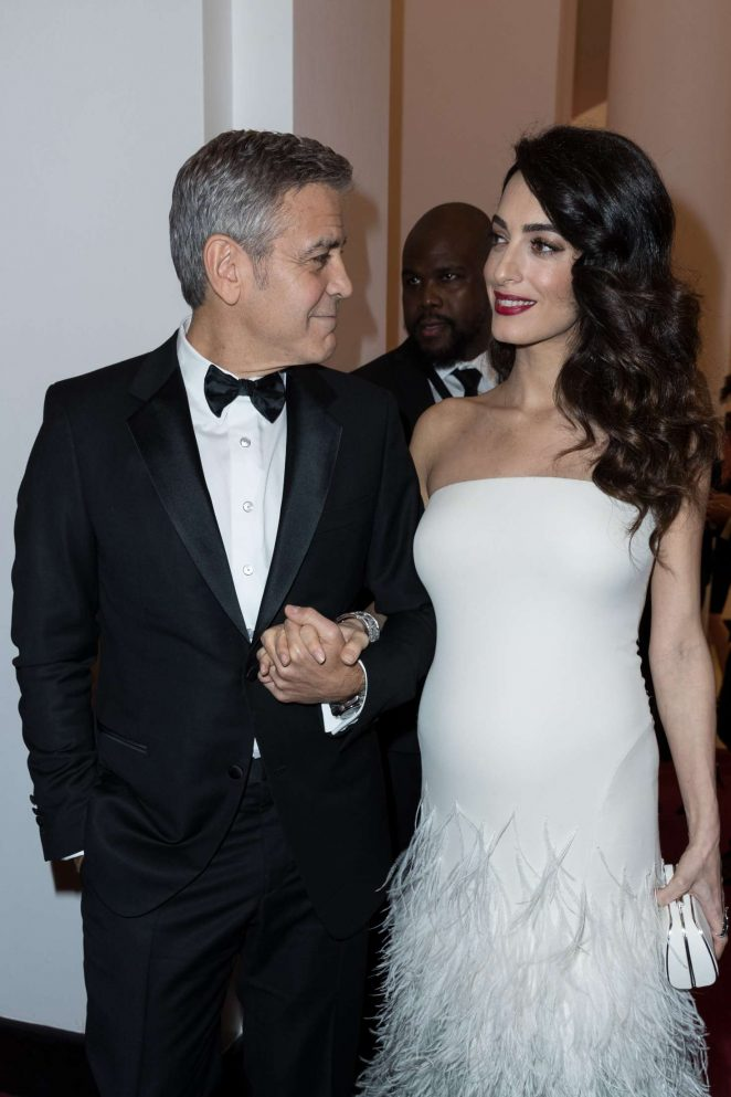 Amal and George Clooney - Cesar Film Awards 2017 in Paris