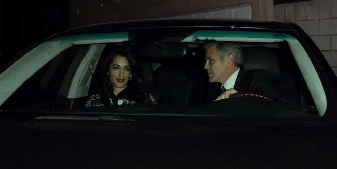 Amal and George Clooney: Leaving Craigs restaurant -02
