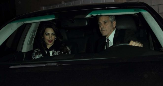 Amal and George Clooney - Leaving Craig's restaurant in Hollywood
