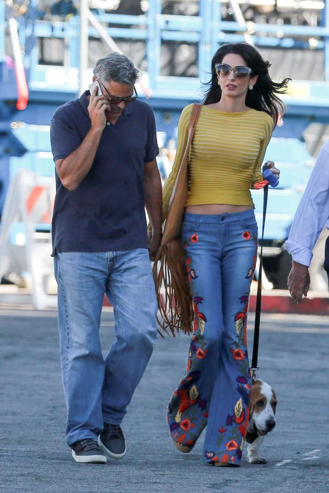 Amal and George Clooney out in Los Angeles