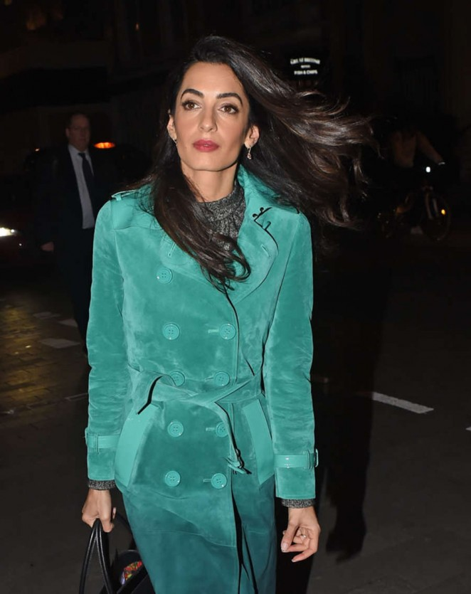 Amal Clooney – Arriving at Roka Restaurant in Mayfair