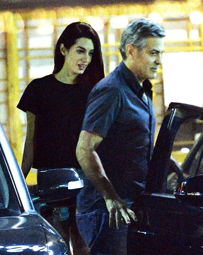 Amal Clooney at Asanebo Sushi in Studio City