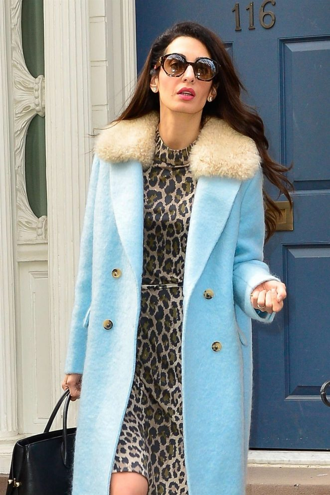 Amal Clooney – Leaving her apartment in New York City