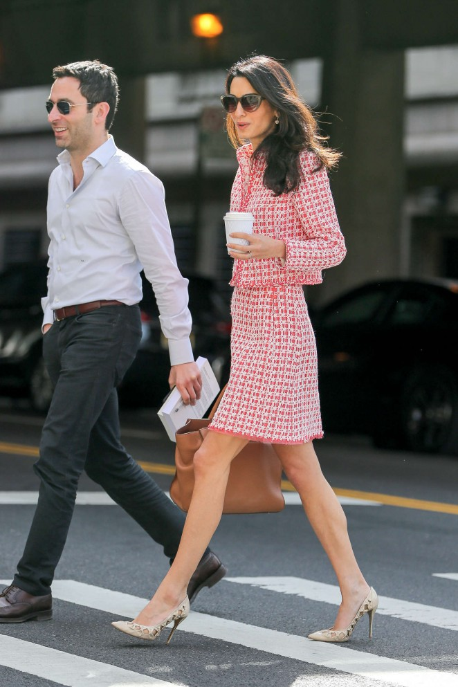 back to post amal clooney out and about in nyc