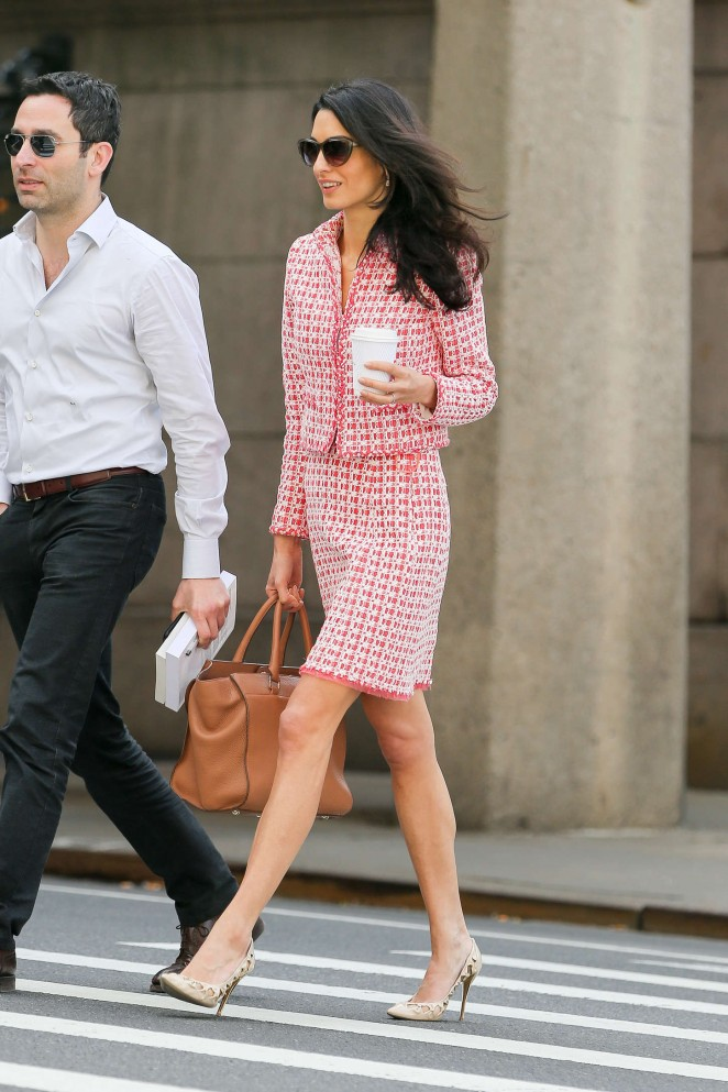 Amal Clooney: Out in NYC -10