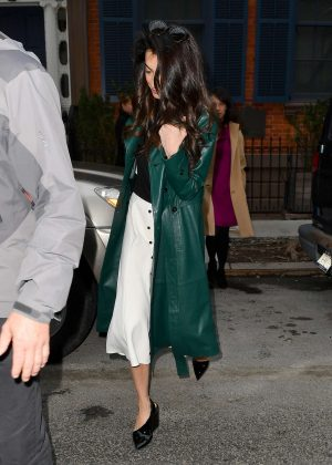 Amal Clooney - Out for dinner in New York City