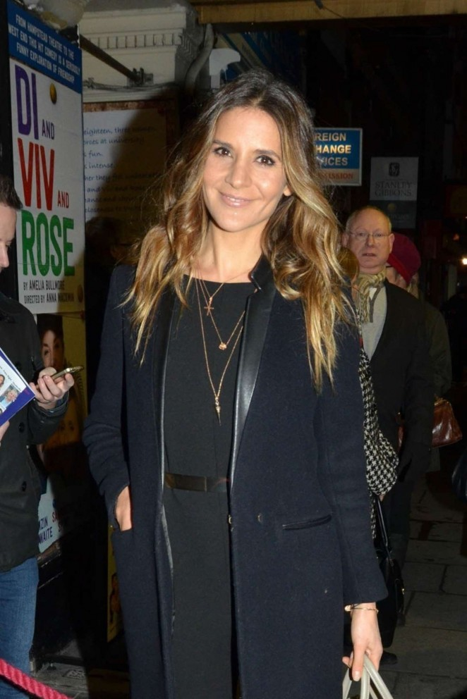 Amanda Byram - Di and Viv and Rose Press Night in London