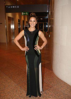 Amanda Byram in Long Dress out in Dublin