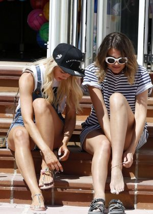 Amanda Clapham and Sophie Porley Out in Ibiza