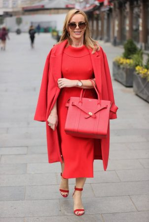 Amanda Holden - All in red at Heart Radio Studios in London