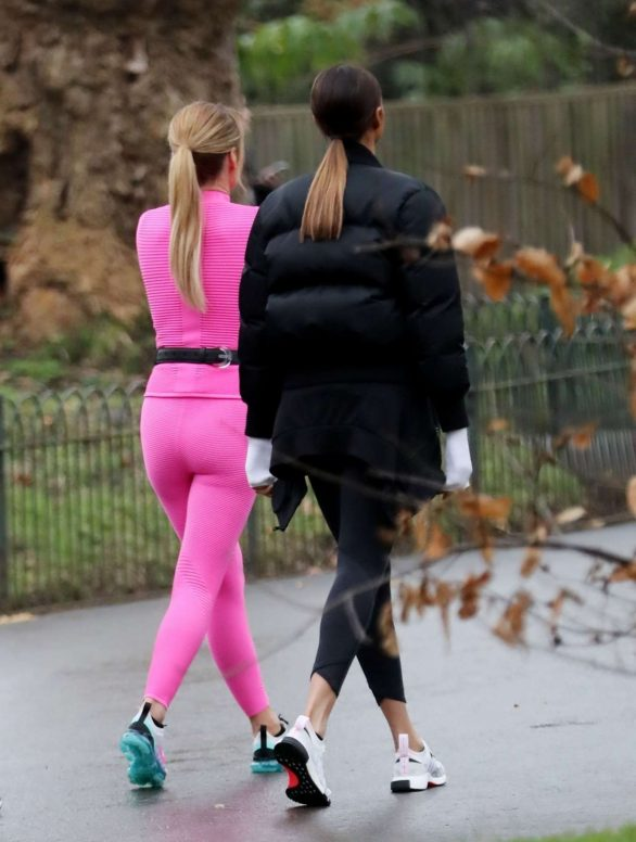 Amanda Holden and Alesha Dixon - Filming the upcoming series of BGT at a local park in London