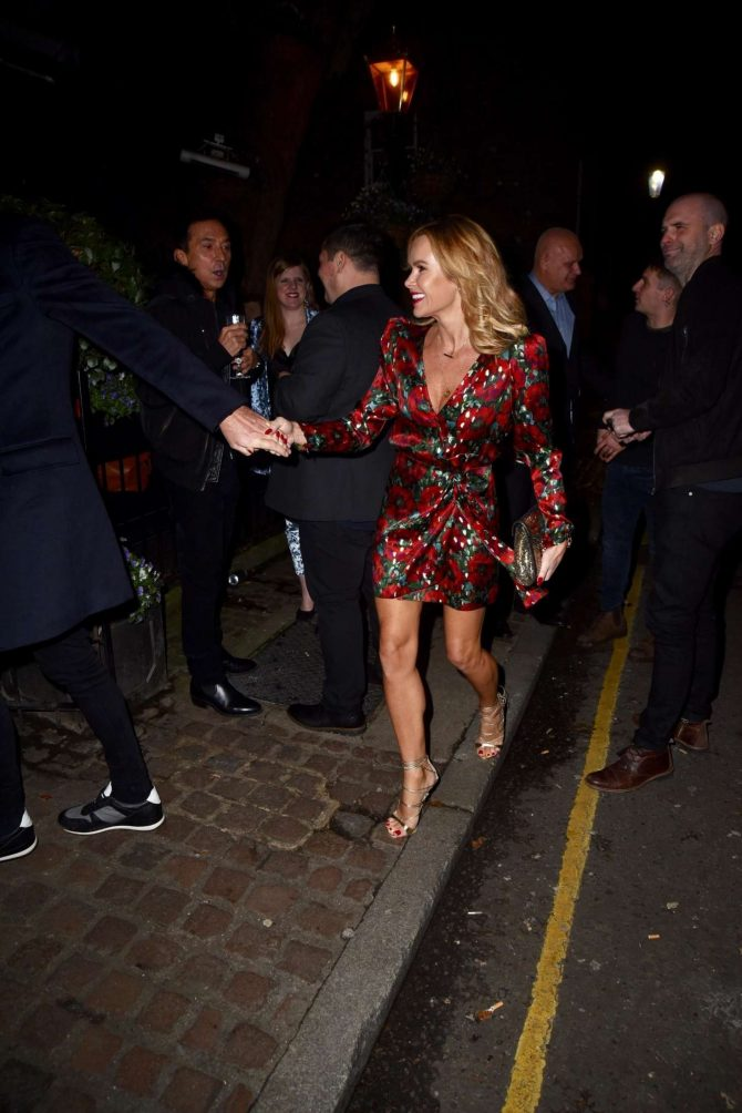 Amanda Holden and Jackie st Clair at Piers Morgans Christmas party in London
