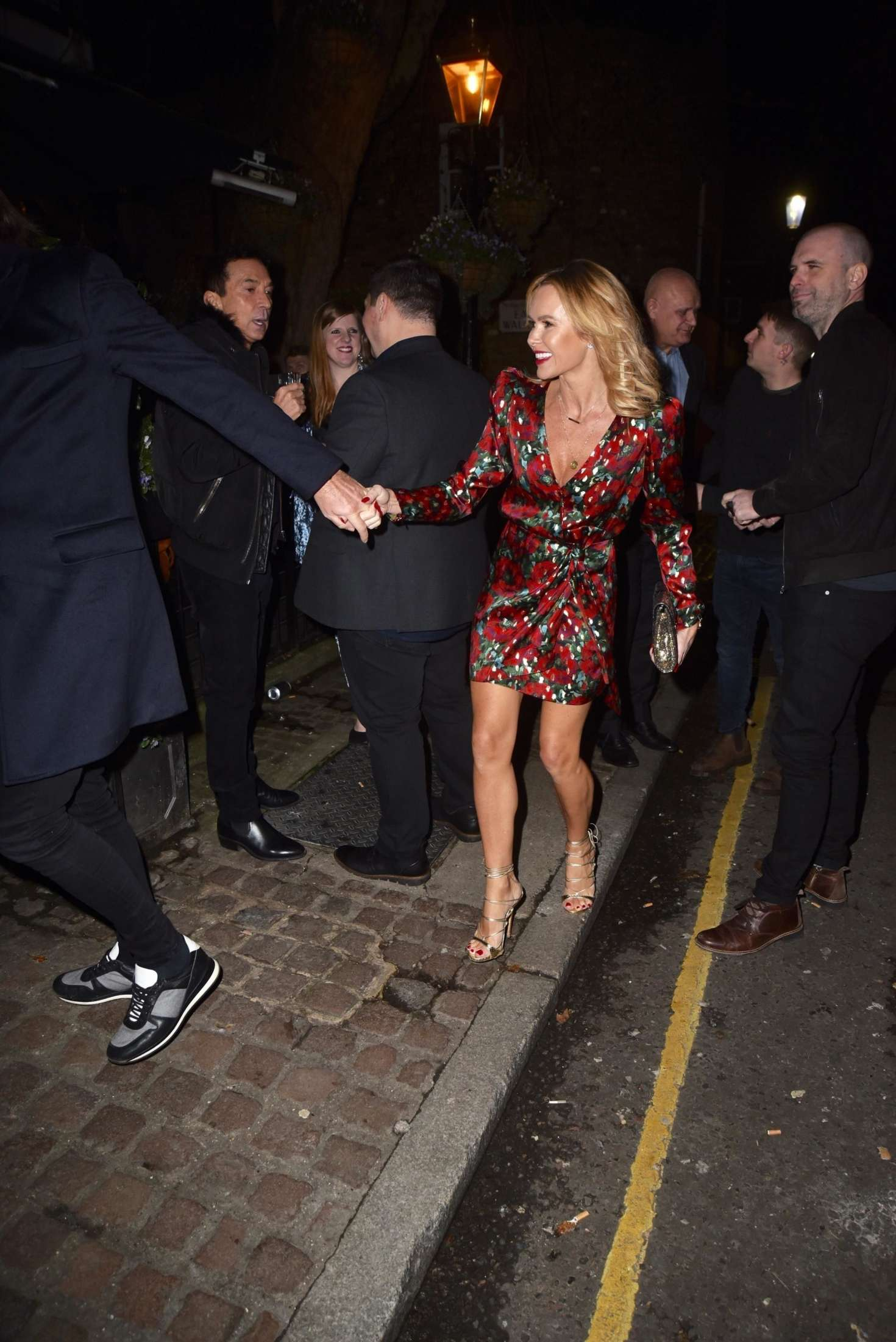 Amanda Holden 2018 : Amanda Holden and Jackie st Clair at Piers Morgans Christmas party -05