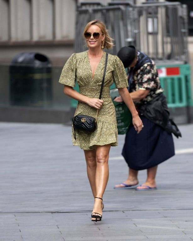 Amanda Holden - Arriving at Heart Radio in London