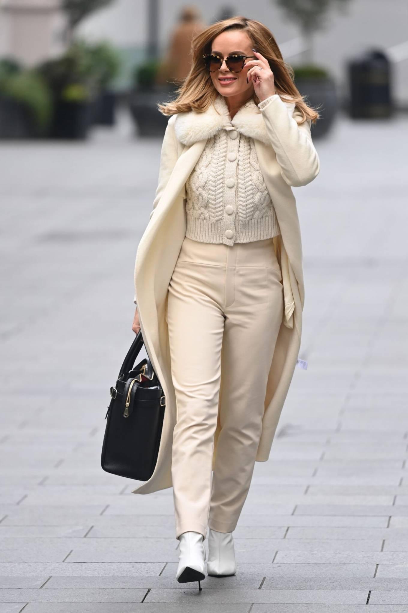 Amanda Holden - Arriving at Heart Radio Show in London