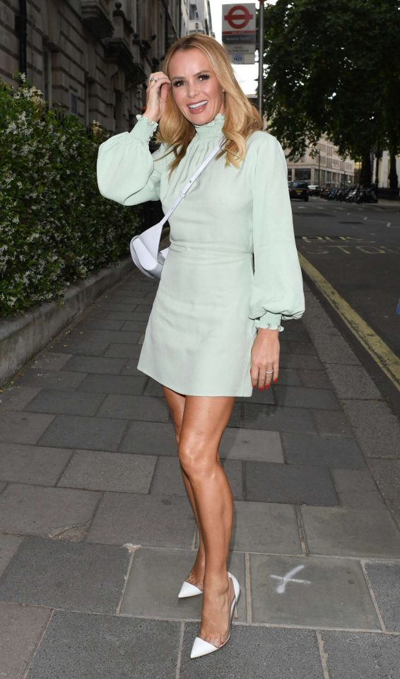 Amanda Holden at Annabel's in London