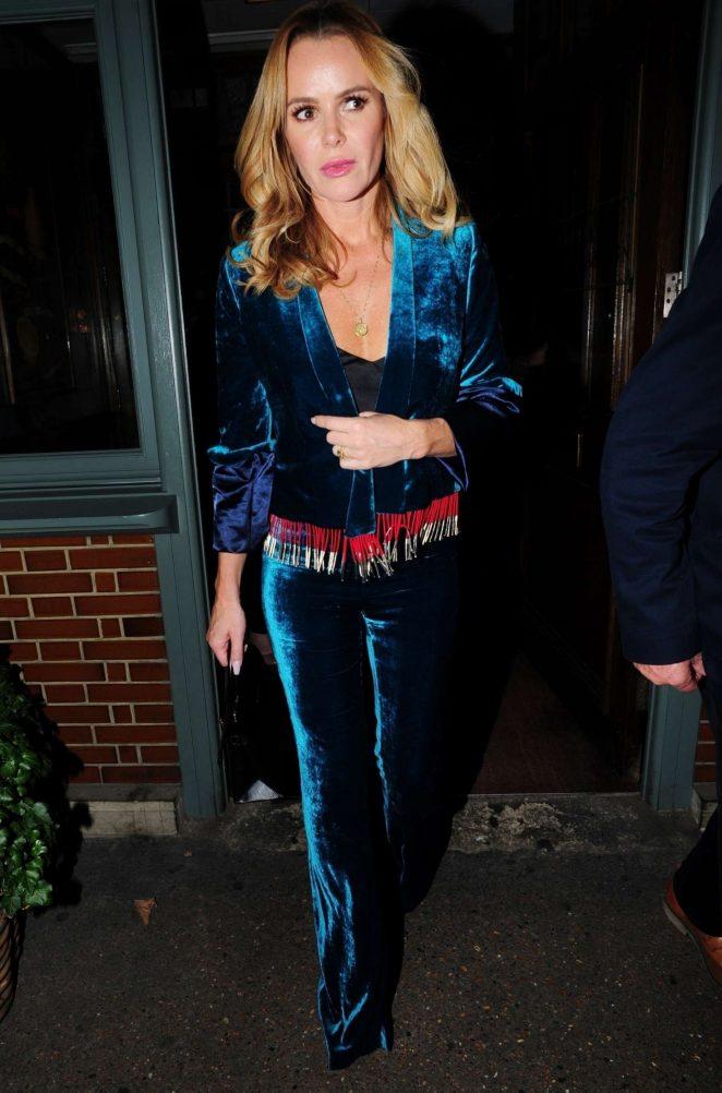 Amanda Holden at Ivy Chelsea Garden Restaurant in London