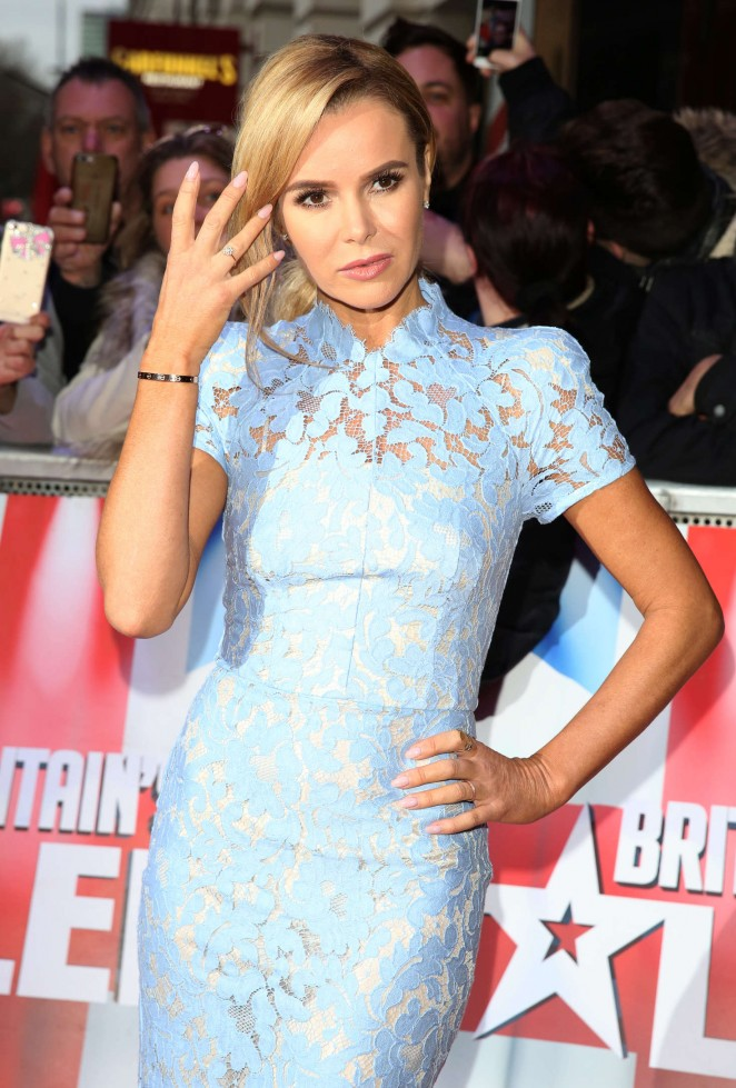 Amanda Holden Britain's Got Talet Red Carpet Arrivals 2016 in Liverpool