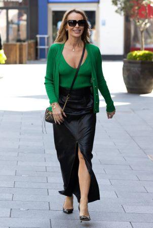 Amanda Holden - Departing the Global Radio Studios in London