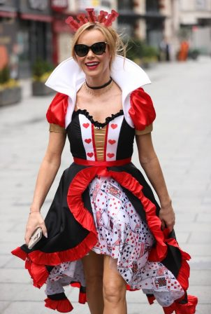 Amanda Holden - Dressed as the Queen of Hearts for world book day in London