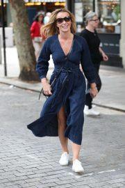 Amanda Holden - Exits Heart Breakfast in London