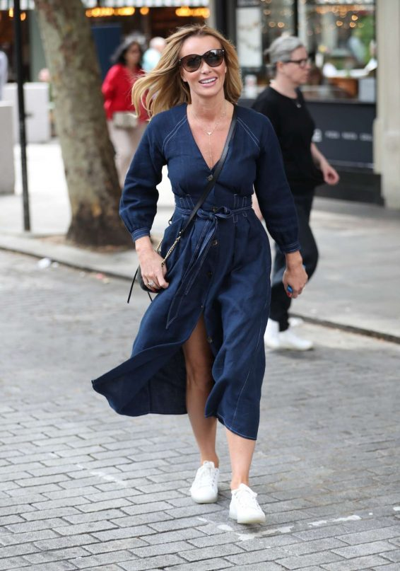 Amanda Holden - Exits Heart Breakfast in London