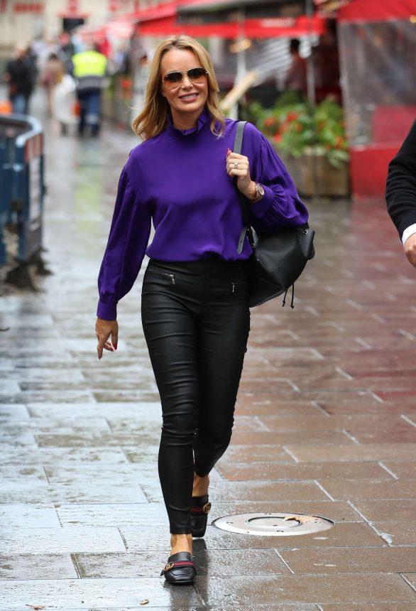 Amanda Holden - Exits Heart Radio Show in London