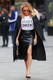 Amanda Holden - Exits Heart Radio Studios in London