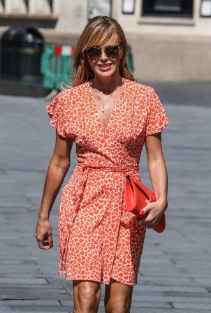 Amanda Holden - In a summer dress departing the Global Radio Studios in London