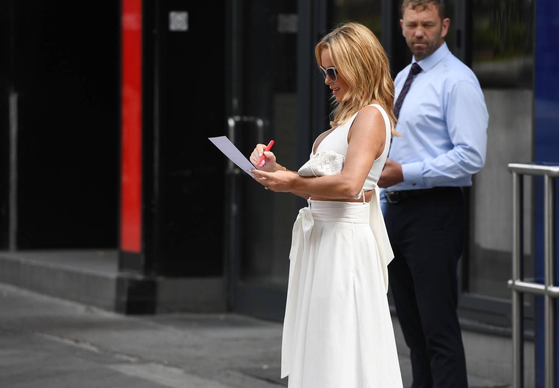 Amanda Holden 2021 : Amanda Holden – In a white dress at Global Studios in London-06