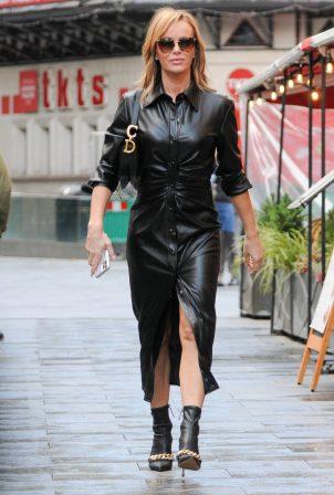 Amanda Holden - In All Black leaving Global Studios in London
