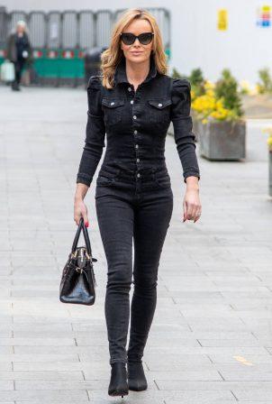 Amanda Holden - In black denim at Heart radio in London