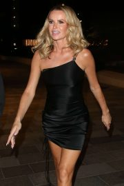 Amanda Holden in Black Mini Dress - Arriving at 'Britains Got Talent' Final after party in London