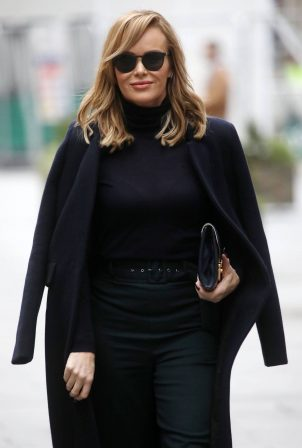 Amanda Holden - In black sheer top in London