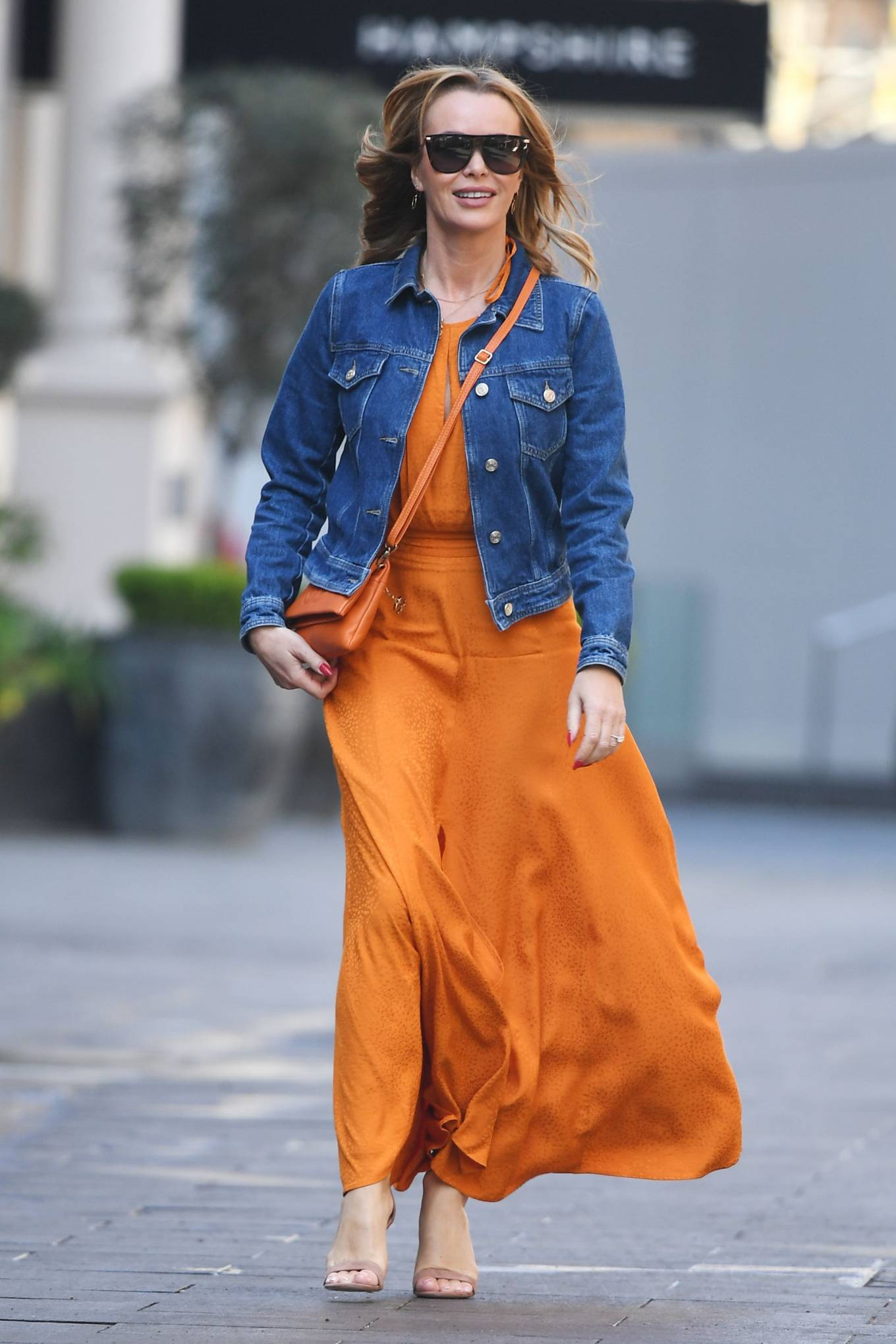 Amanda Holden 2021 : Amanda Holden – In dress leaving the Global Radio Studios in London-06