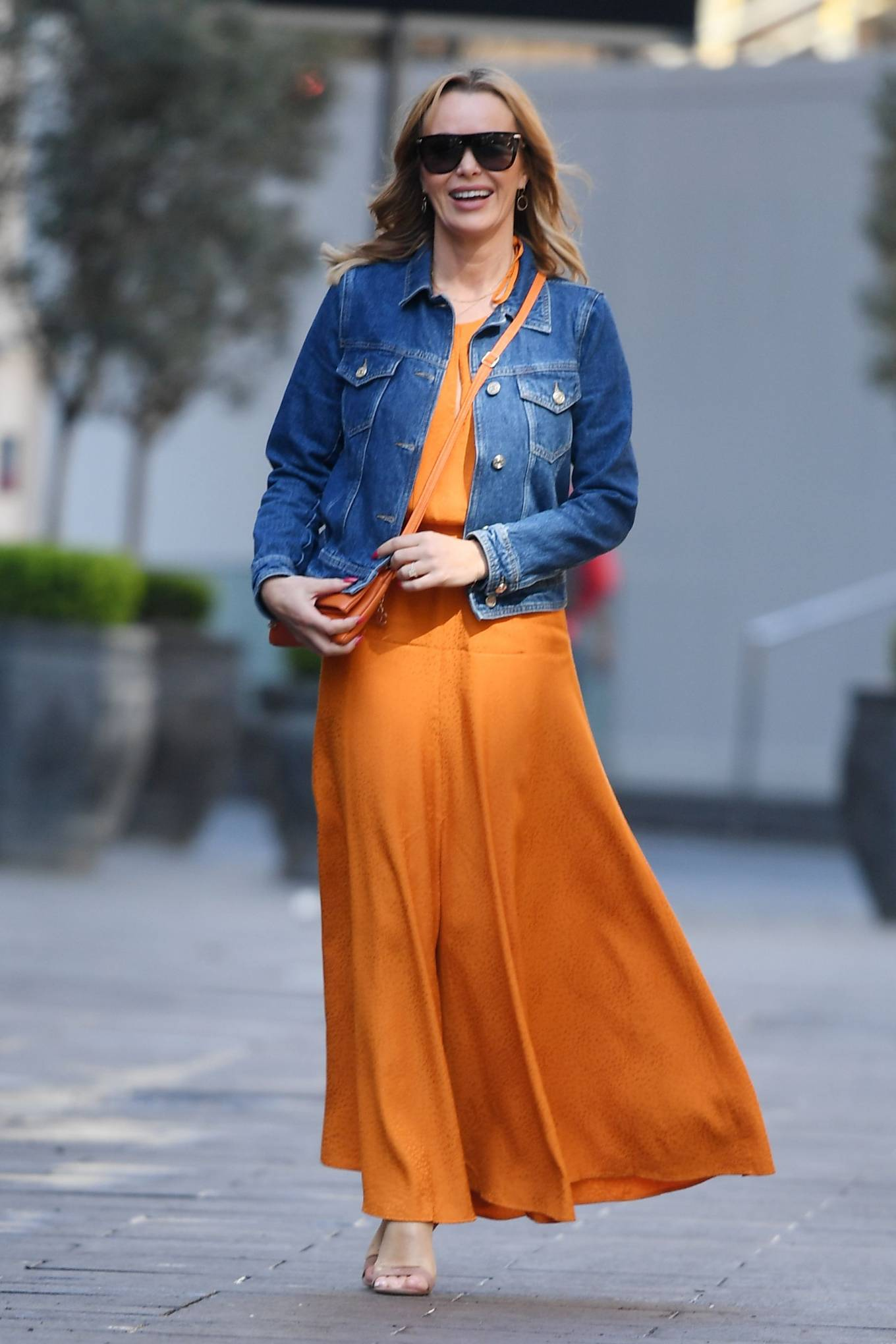 Amanda Holden 2021 : Amanda Holden – In dress leaving the Global Radio Studios in London-07