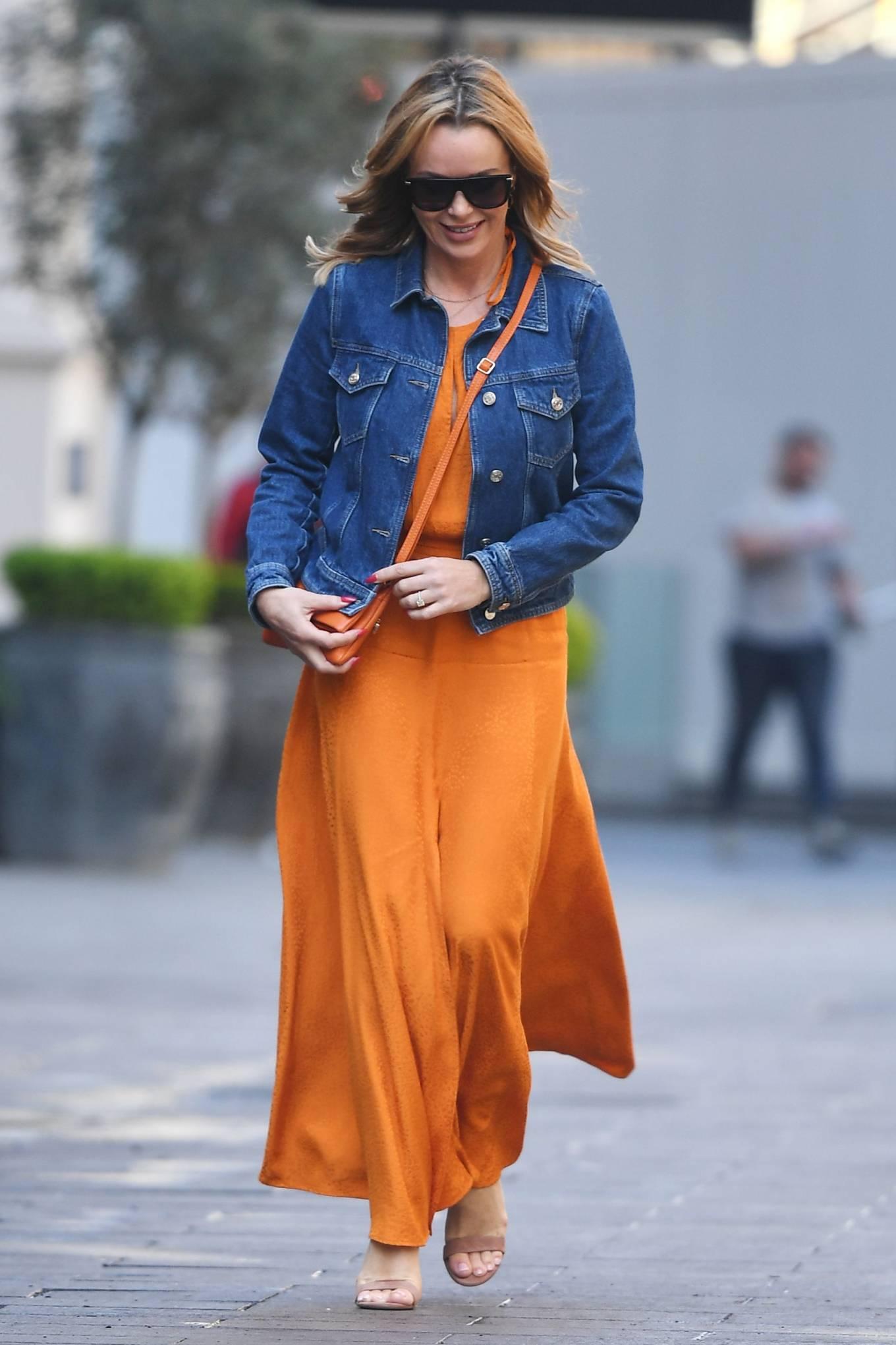 Amanda Holden 2021 : Amanda Holden – In dress leaving the Global Radio Studios in London-08