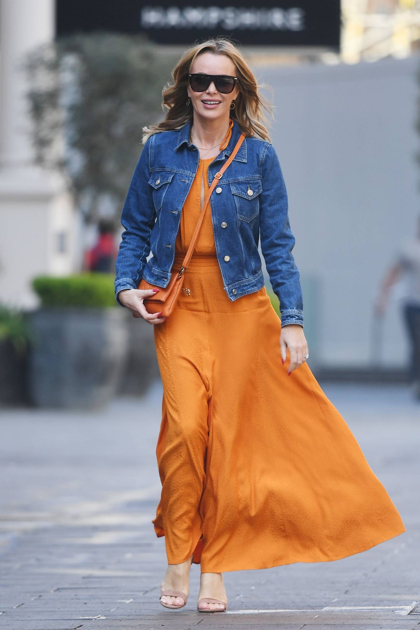 Amanda Holden 2021 : Amanda Holden – In dress leaving the Global Radio Studios in London-10