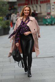 Amanda Holden in Leather Pants - Leaving Heart Radio in London