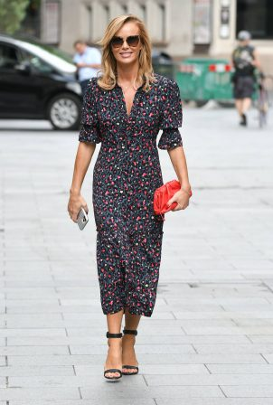 Amanda Holden - In long summer dress seen leaving Global Radio Studios in London