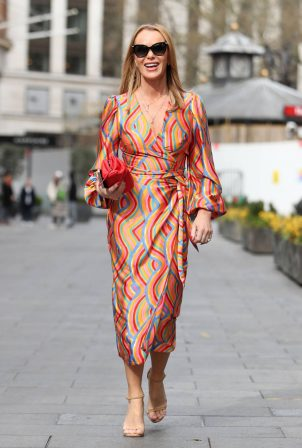 Amanda Holden - In maxi dress leaving the Global Radio Studios in London
