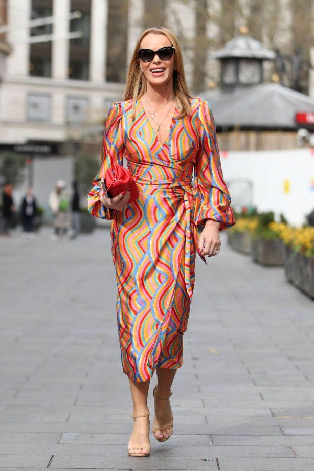 Amanda Holden - In maxi dress leaving the Global Radio Studios in London