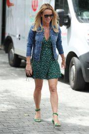 Amanda Holden in Mini Dress Exits Heart Radio in London