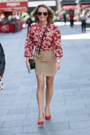 Amanda Holden in Mini Skirt - Leaving Heart Radio in London