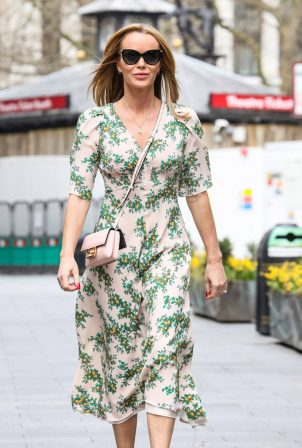 Amanda Holden - In summer dress departing her Heart FM show at the Global Radio Studios in London