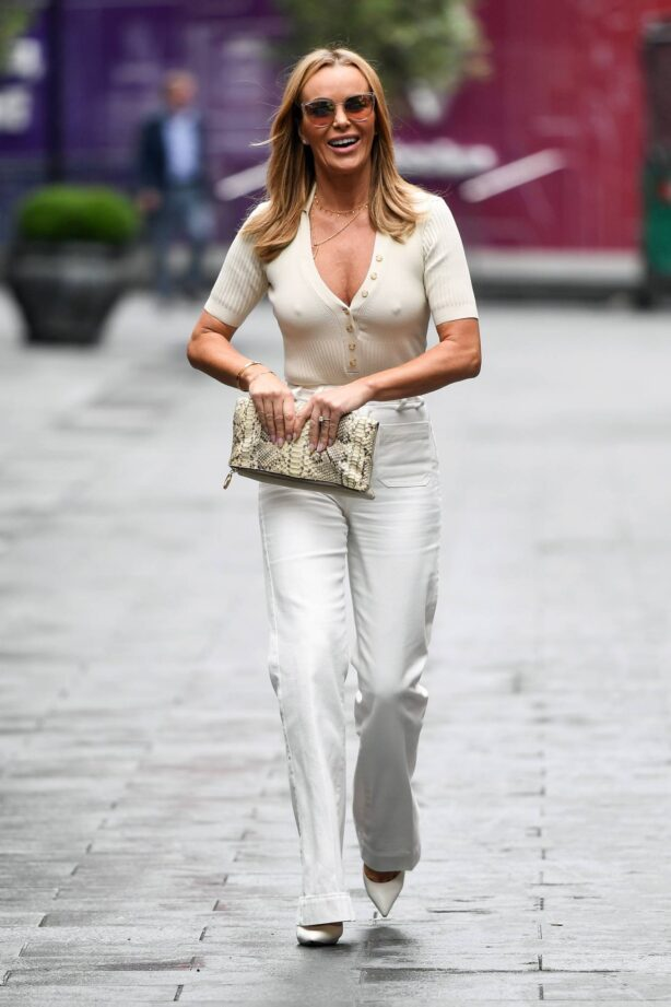 Amanda Holden - Is seen departing the Global Radio Studios in London