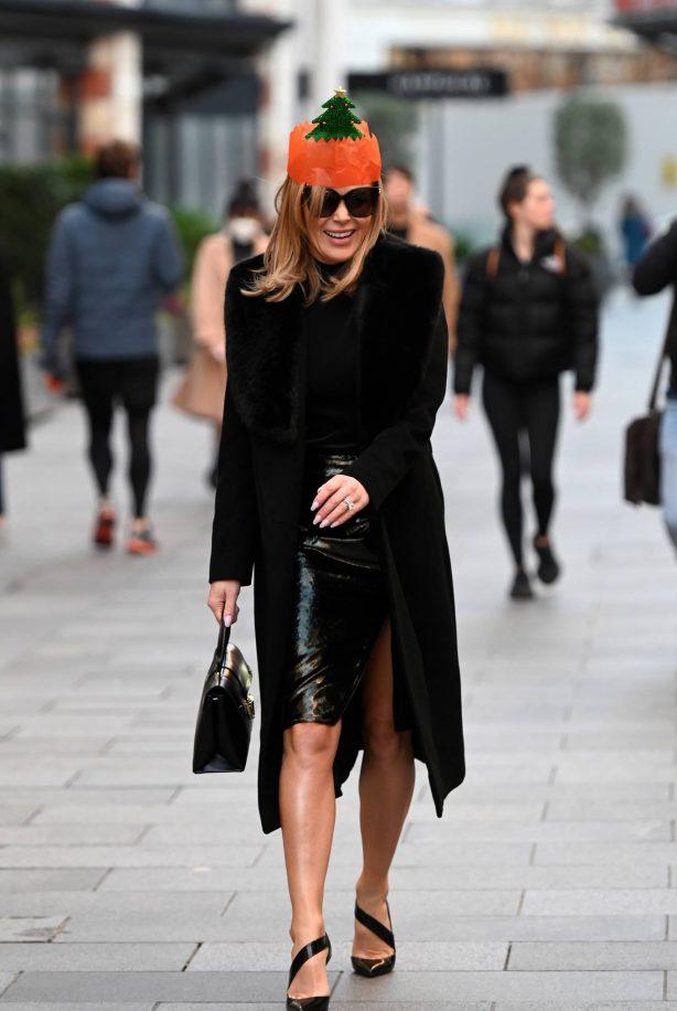 Amanda Holden - Leaves Global Radio Party in London
