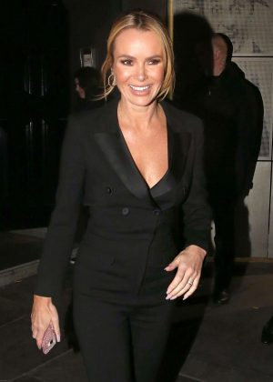 Amanda Holden - Leaves the Palladium Theatre in London