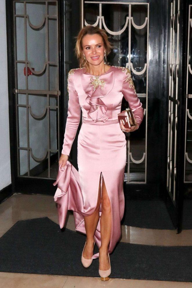 Amanda Holden - Leaving a wedding at Claridges in London